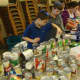 Students at the Westchester Day School in Mamaroneck sort food donated as part of their Martin Luther King Jr. Day of Service.