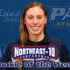 Freshman Kaitlyn Fitzgerald was honored by the NE-10 as rookie of the week.