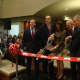 Assemblyman David Buchwald, Deputy County Executive Kevin Plunkett, Life Time general manager Susan Mistri, Harrison Mayor Ron Belmont and Life Time Vice President Jeff Zwiefel cut the ribbon on the new Harrison location.
