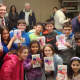 The students from Parsons Elementary School's Green Key Club, who created and distributed the Valentine's Day cards for veterans.