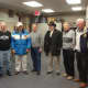 Veterans from both the Harrison American Legion and the Harrison VFW came out Thursday night to meet the students from Parsons.