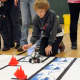 Chris Calderwood, a Country School fifth-grader, engineered his robot to navigate an obstacle course autonomously. He and his partner, Jack Johnson, placed second in this event.