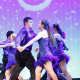 Yorktown High School students dance at a show.