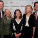 NBC's Willie Geist with Greenwich Leadership Council members and event organizers Pat Mendelsohn, Angelique Bell and Mary Campinell, and Save the Children Senior Vice President of Strategic Initiatives Mark Kennedy Shriver, at the Greenwich event.