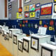 Artwork from each student was displayed.