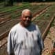 "Fairgate Farm Manager Bill Callion with vegetables growing behind him at Fairgate Farm. Located at 129-143 Stillwater Ave., it is having a free public event called ""It Isn't Easy Being Green,"" Saturday from noon until 2 p.m."