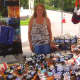 Joan Kstant of I Am A Force4Good at the Wilton Street Fair and Sidewalk Sale.