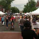 The view on Elm Street In New Canaan during the Village Fair and Sidewalk Sale on Saturday.