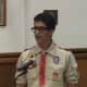 Tuckahoe teenager Sebastian Maroun proposing the Eagle Scout project to the village.