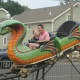A miniature roller coaster rides the rails at the Easton Fireman's Carnival. A drawing to win a car will take place at this year's carnival on Aug. 1.