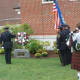 A ceremonial wreath is placed during the New Canaan 9/11 ceremony.