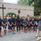 Students gather at the Our Lady of Fatima School's 9/11 Memorial Service.