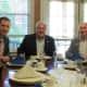 Tuckahoe Village Administrator David Burke with Mayor Steve Ecklond and RiverVue Executive Director David Goldsmith.
