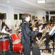 The Eastchester Middle School band played for parents, town and school officials on Tuesday.