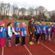 Kids get ready to participate in the fun run.