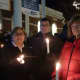 Greenwich residents, from left Judy and Peter Berg and Phyllis Behlen, attend the Stamford Vigil of Hope on Thursday evening to prevent gun violence.