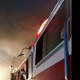 Dobbs Ferry firefighters battle the blaze.