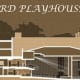 A rendering of the proposed interior renovations for the Bedford Playhouse's theater space.