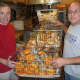 Anthony and Peer Telesco standing by  bagels at their Liz-Sue bagel shop at 63 High Ridge Road. Their bother Thomas operates Liz-Sue II in Norwalk.