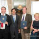 Award honorees with Mayor Noam Bramson.