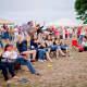 Folks enjoy a free summer concert at Calf Pasture Beach in Norwalk.
