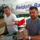 Giovanni Castano, right, owner of Beldotti Bakeries and his brother Fernando, at the market.