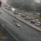 A look at delays on northbound I-87 south of Route 9 near the Tappan Zee Bridge on Tuesday.