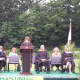 Guest speaker Jeanne Newman, a former Hastings High School teacher and founder of Project SHARE, shared her experience and words of advice for the graduating seniors