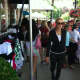 Shoppers at the sidewalk sales on Friday.