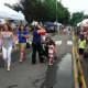 People enjoyed walking on River Road during the sidewalk sale in Wilton.