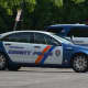 Westchester County police cars stationed in Mount Kisco