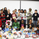Students at Hillcrest Elementary School in Peekskill gathered food for needy families this Thanksgiving.
