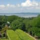 Kykuit offers views of the Hudson River and the Palisades.