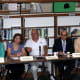 A panel made up of local business leaders and school officials listens to the children's presentations at the Ossining High School last month.