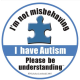 Nick Lombardi came up with the idea for this button for his autistic brother, Joey.