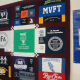 The quilt made for the people of Newtown, featuring the logos of more than 30 Westchester and Putnam teacher unions.