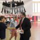 Rye Superintendent Frank Alvarez greets students at the Diversity Expo.