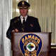 Ramapo Police Chief Brad Weidel addresses the crowd at a recent awards ceremony honoring outstanding police work, as well as promotions and retirements.