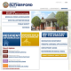 The homepage of Rutherford's new municipal website.