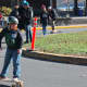Longboard enthusiasts brought their boards to Fort Lee to ride and race in a sponsored event.