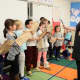 Bronxville Elementary School students worked with Rachel Berger, programs director for the Play Group Theatre, to act out emotions and plots from different folktales and fables.