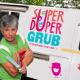 Laura Bonilla strikes a pose outside her Super Duper Grub food truck.