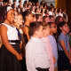 Soon to be sixth-graders are feted Tuesday at the Albert Leonard Middle School in New Rochelle. The children were fifth-graders at the William B. Ward Elementary School.