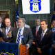 Yonkers Mayor Mike Spano announces the debut of the Police Department's new phone app, which lets callers give officers anonymous tips.