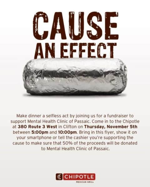 Clifton Chipotle Fundraiser Supports Cause An Effect Mental Health