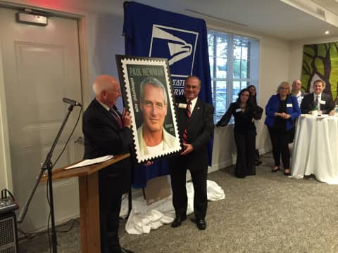 Photo Credit Jay Polansky Officials Celebrate The Paul Newman Stamp Released Earlier This Year At An