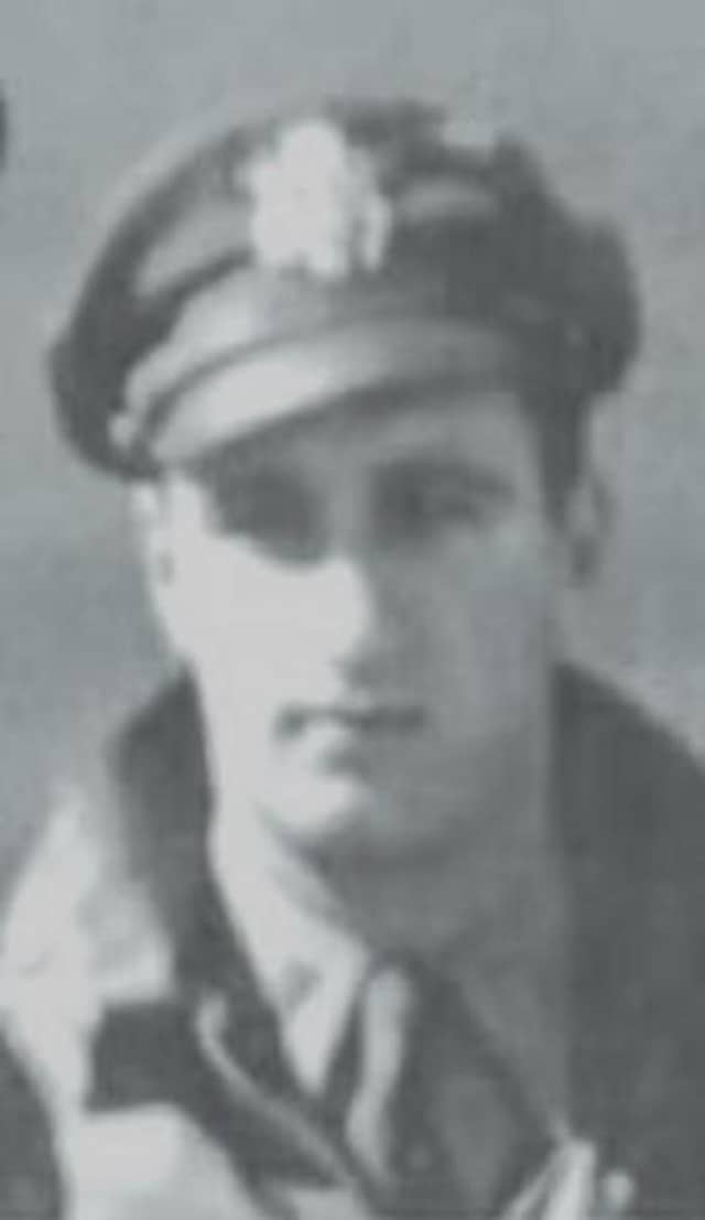 Charles Baffo, a hero bomber pilot from World War II, was honored posthumously in his hometown of Wilton.