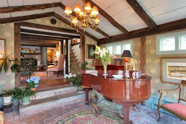 """An antique home known as the """"Aaron Banks barn"""" is currently for sale in Weston."""