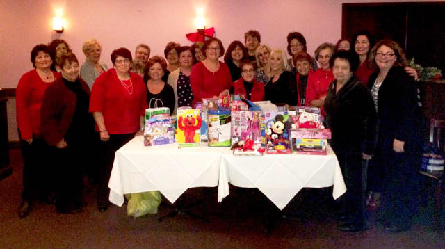 members of the Saddle Brook Woman's Club during one of their many fundraisers