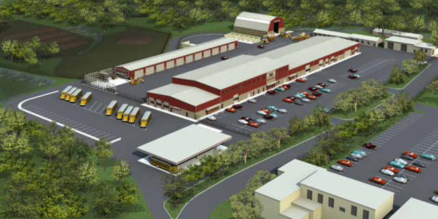 Artist's rendering of the Bergen County Department of Public Works Complex.